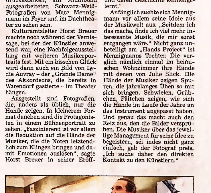 Presse zur Ausstellungseröffnung, Warendorf